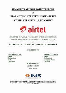 Summer Internship Report on Marketing strategies of Airtel