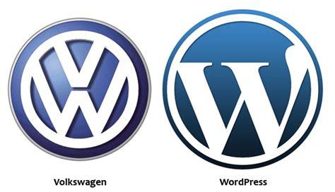 Volkswagen Logo Versus Wordpress Logo