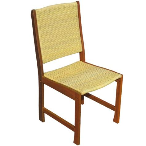 stabiler stuhl borneo massivholz mit rattan gartenstuhl
