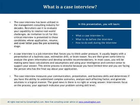 interview case case interview preparation