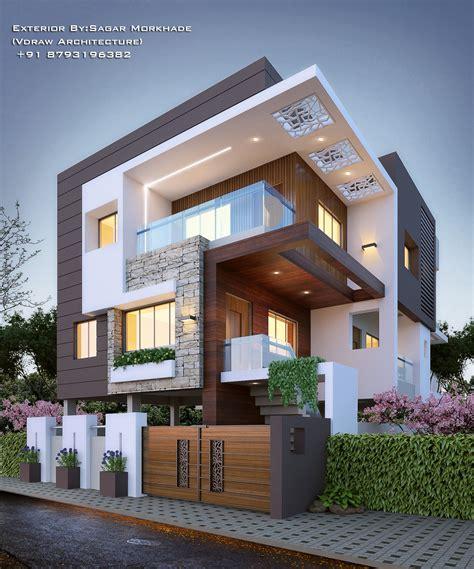 #Modern #Residential #Exterior By Ar Sagar Morkhade