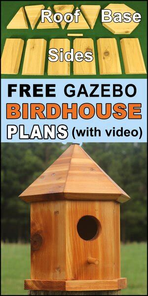bird house plans gazebo nesting box  bluebirds wrens