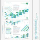 Simplicity Tri Fold Brochure Template Design Stock Vector Green Tri Fold Brochure Design Stock Illustration