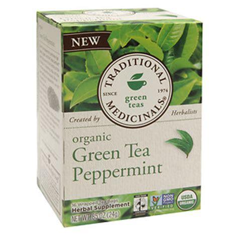 is green tea caffeine free traditional medicinals naturally caffeine free herbal tea green tea peppermint 16 pk