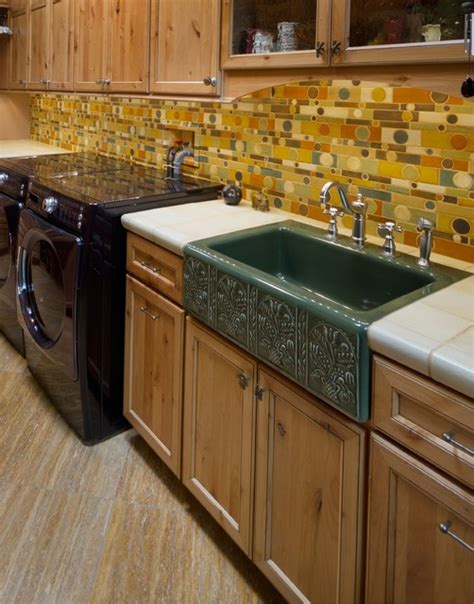 kitchen tiles designs pictures backsplash eclectic laundry room by 6298