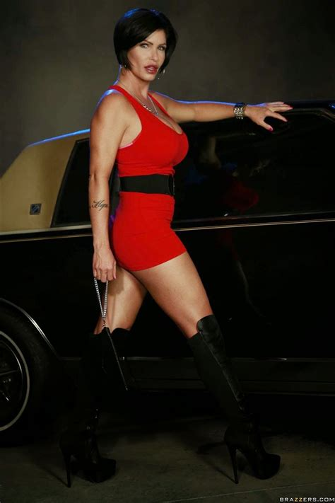 Shay Fox Gets Drilled On A Cop Car In A Tight Red Dress