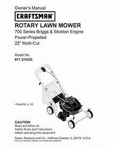 Craftsman Lawn Mower 917 374353 User Guide