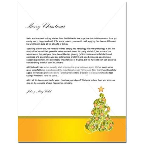 christmas letter template guide to finding a free christmas letter template