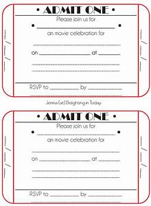 movie ticket birthday invitations ideas bagvania free With fake movie ticket template
