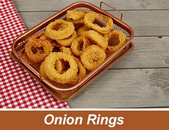 copper crisper cooks perfectly crispy onion rings copper