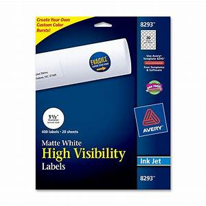 avery round 150quot high visibility label for inket printer With avery 1 25 round labels