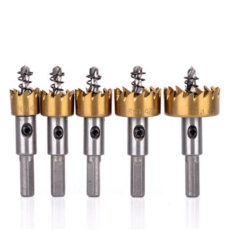 hole drill saw metal hss carbide wood bit bits tool tip steel stainless drills 5pcs 30mm alloy cutter drilling tools