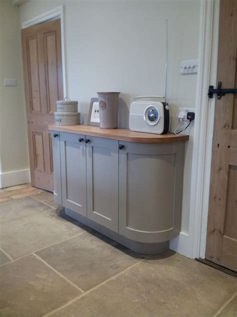 houzz small bathrooms ideas curved sideboard in farrow light grey no 17
