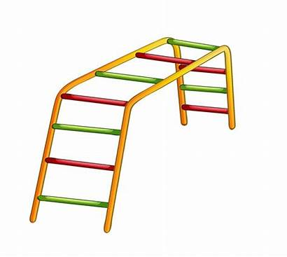 Clipart Playground Ladder Clip Park Swings Monkey