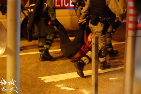 man unconscious  dragged     street  subdued  police left  lie