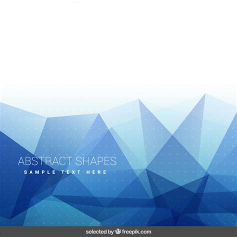 Abstract Blue Shapes Background by Background With Blue Abstract Shapes Vector Free
