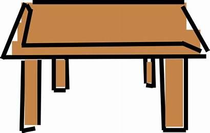 Cartoon Clipart Desk Table Clean Student Clip