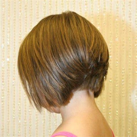 back view of short angled bob haircuts back view of