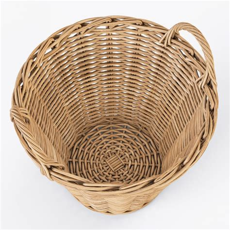 Wicker Basket Ikea Nipprig with Apples royalty-free 3d model - Preview