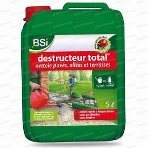 Désherbant Naturel Pour 600m2 : destructeur total 5l nettoyage dalles et terrasses ~ Nature-et-papiers.com Idées de Décoration