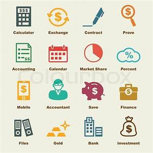 Accounting Elements  Vector Infographic Icons