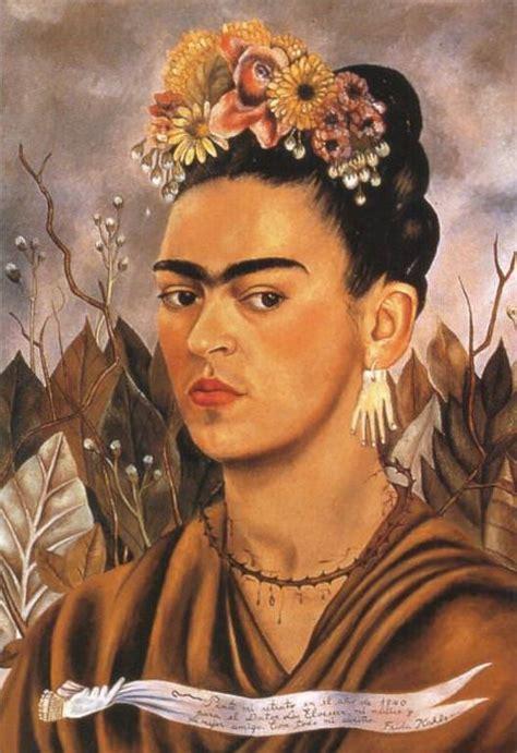 Frida Kahlo Selbstbildnis Mit Dornenhalsband by Frida Kahlo Selbstbildnis Mit Dornenhalsband