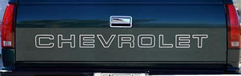 chevrolet tailgate truck lettering  silverado sticker