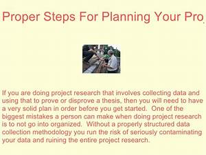 Proper Steps For Planning Your Project Research
