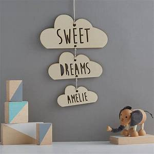 Personalised Wooden Sweet Dreams Cloud Mobile By We Are