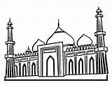 Mahal Taj Coloring Famous Drawing Cartoon Palace Mind Had Would Netart Getdrawings sketch template