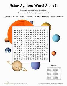 Solar System Word Search | Solar system, Earth space and ...