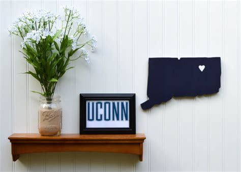 uconn colors uconn huskies quot state quot wall handcrafted wood