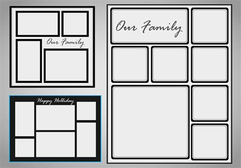 photo collage template vector set   vector