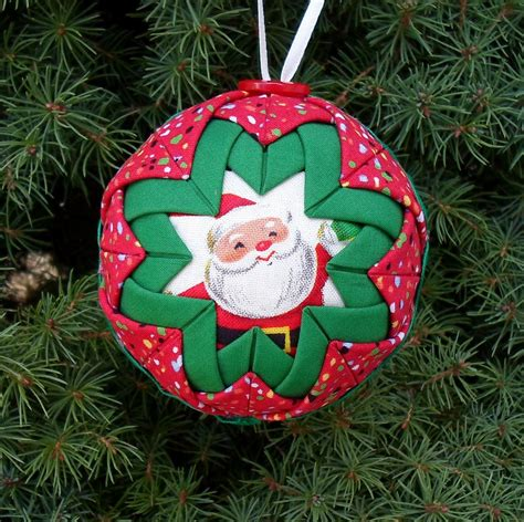 free folded star ornament pattern quilted christmas ball
