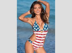 MONOKINI Swimsuit in American Beauty VENUS