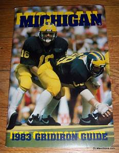 Internet Superstores  1983 Michigan Gridiron Guide