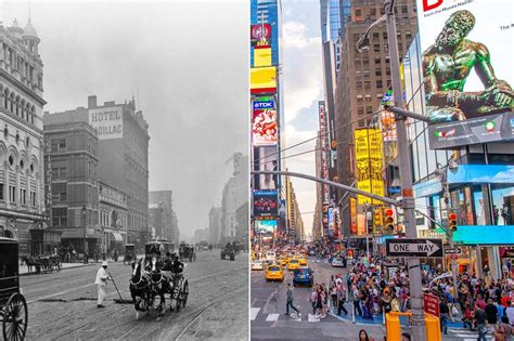 Then and now: incredible photos of cities past and present ...