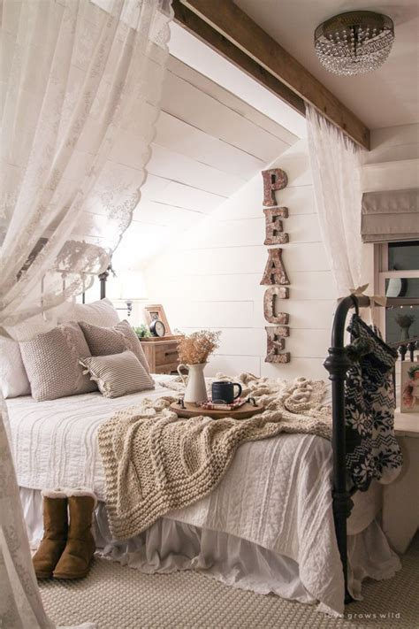cozy bedroom in grey with beautiful home decorations 1000 ideas about vintage bedroom decor on pinterest bedrooms short window curtains and