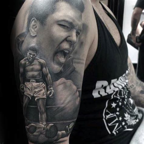 muhammad ali tattoo designs  men boxing champion