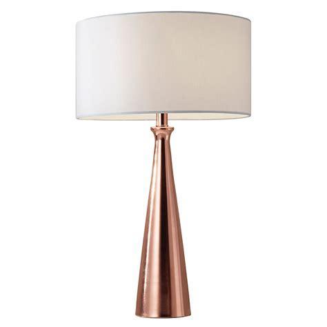 Lambert Modern Brushed Copper Table Lamp   Eurway