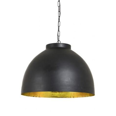 large black gold lined pendant light centuria