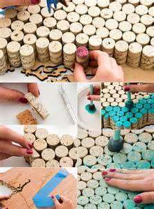 wohnideen minimalistische hochzeit basteln mit korken kreative und einfache bastelideen für kork deko und kreative wanddeko freshouse