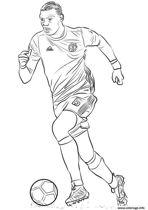 coloriage paul pogba joueur france coupe du monde