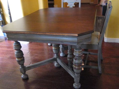 European Paint Finishes: Antique Table & 6 Chairs