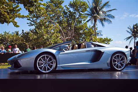 lamborghini ring up 50th anniversary with aventador roadster launch in miami news top speed