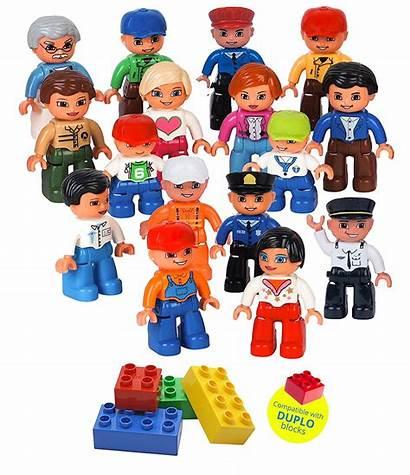 Lego Figures Duplo Community Compatible Pcs 16pc