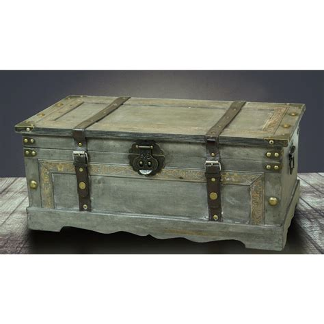 Bedroom Storage Trunk by Rustic Large Wooden Storage Trunk Bedroom Living Room Gray