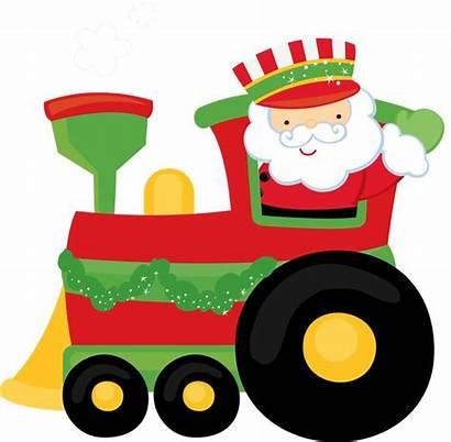 Train Christmas Clipart Santa Clip Express Polar