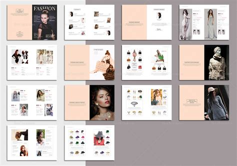 pages fashion magazine template  psd word publisher