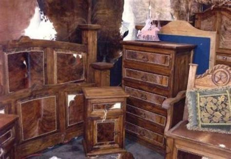 Cowhide Store by Rustic Cowhide Bedroom Furniture Sets Free Shipping